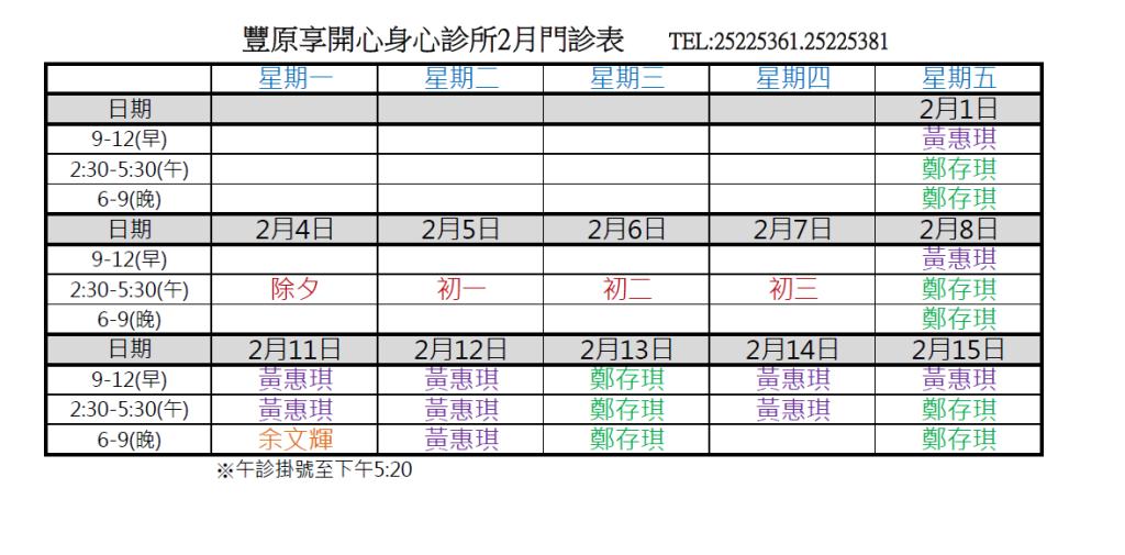 108.2(上)享開心門診